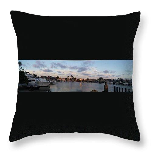 Newport Beach Throw Pillow featuring the photograph Newport Beach Bay by Kimberly Watt