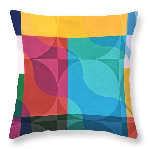 Colorful Abstract Throw Pillow featuring the digital art Newport Dunes Series/1 by Mark Santistevan