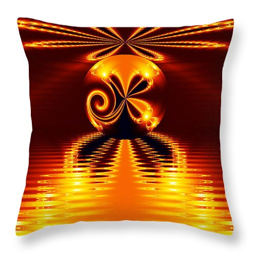Clay Throw Pillow featuring the digital art Newton World by Clayton Bruster