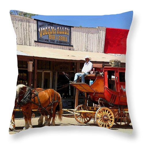 Stage Throw Pillow featuring the photograph Next Stop Bisbee by Joe Kozlowski
