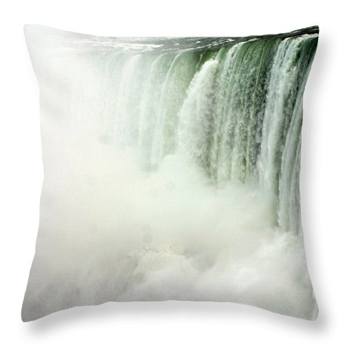Landscape Throw Pillow featuring the photograph Niagara Falls 4 by Anthony Jones