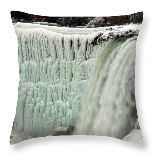 Landscape Throw Pillow featuring the photograph Niagara Falls 7 by Anthony Jones