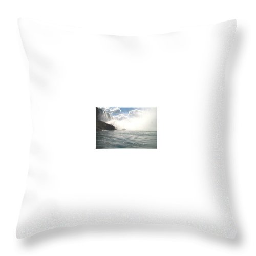 Landscape Throw Pillow featuring the photograph Niagara Falls by Debbie Levene