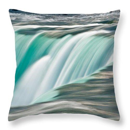 Niagara Throw Pillow featuring the photograph Niagara Falls Number 2 by Steve Gadomski