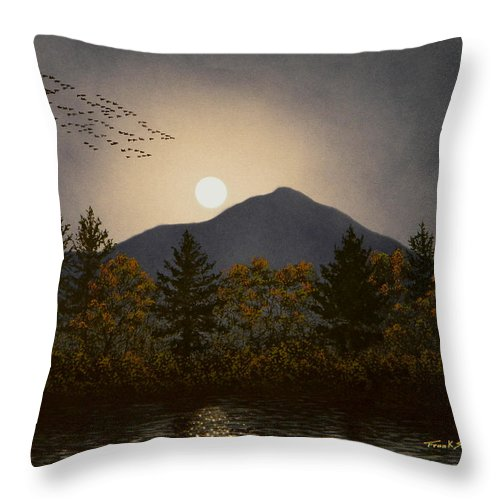Mountains Throw Pillow featuring the painting Night Calls by Frank Wilson
