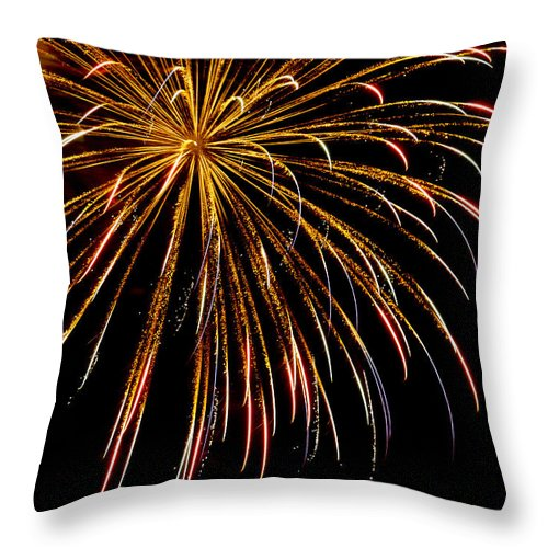 July 4th Throw Pillow featuring the photograph Night Colors by Phill Doherty