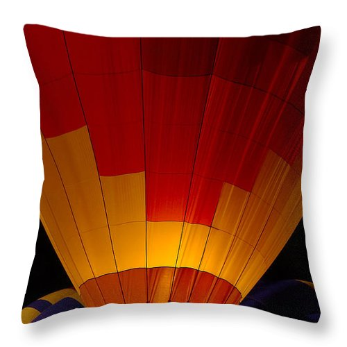 Balloon Throw Pillow featuring the photograph Night Flight by Mike Dawson