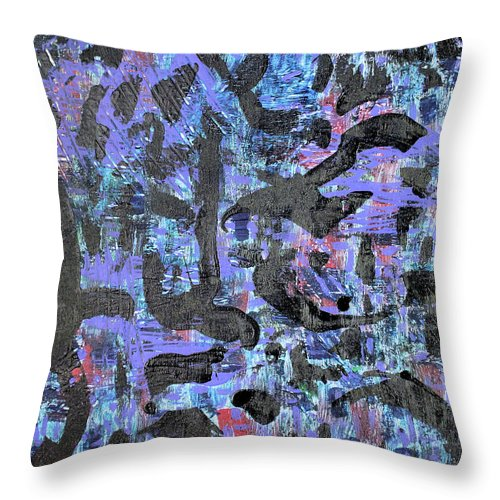 Throw Pillow featuring the painting Night Flight by Pam Roth O'Mara