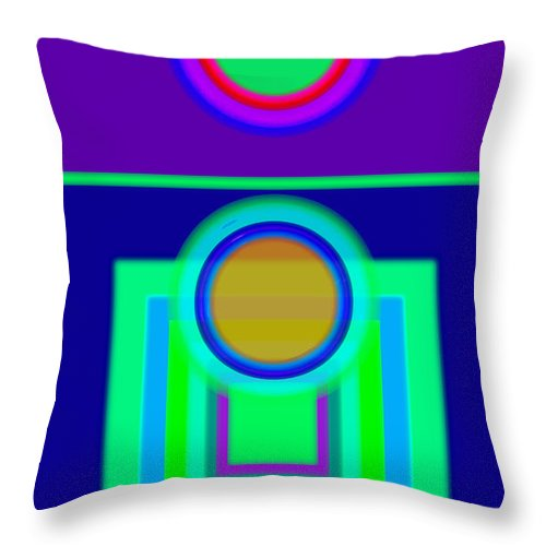 Classical Throw Pillow featuring the digital art Night Game by Charles Stuart