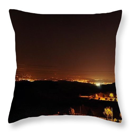 Clay Throw Pillow featuring the photograph Night Glow by Clayton Bruster