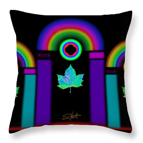 Classical Throw Pillow featuring the painting Night In Tuscan Winter by Charles Stuart