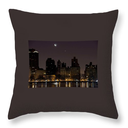 Throw Pillow featuring the photograph Night Life by Alan Thorpe