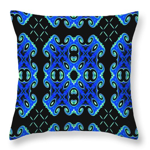 Abstract Throw Pillow featuring the ceramic art Night Life by Debra Lynch