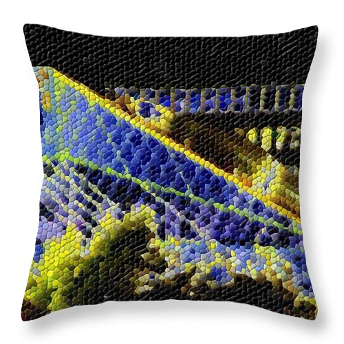 Seattle Throw Pillow featuring the photograph Night Lights by Tim Allen
