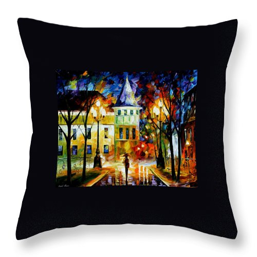 Afremov Throw Pillow featuring the painting Night Magic by Leonid Afremov