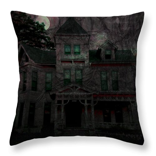 Night Throw Pillow featuring the digital art Night by Mimulux patricia No