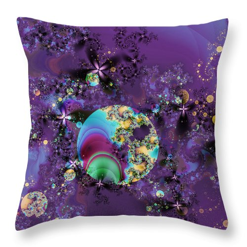 Abstract Throw Pillow featuring the digital art Night Sky by Frederic Durville