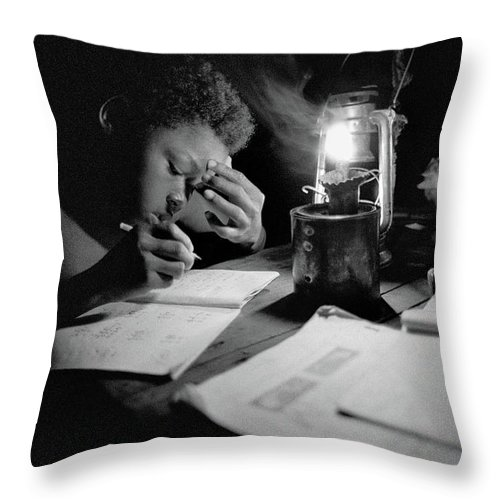 Lamplight Throw Pillow featuring the photograph Night Study by Candace Freeland