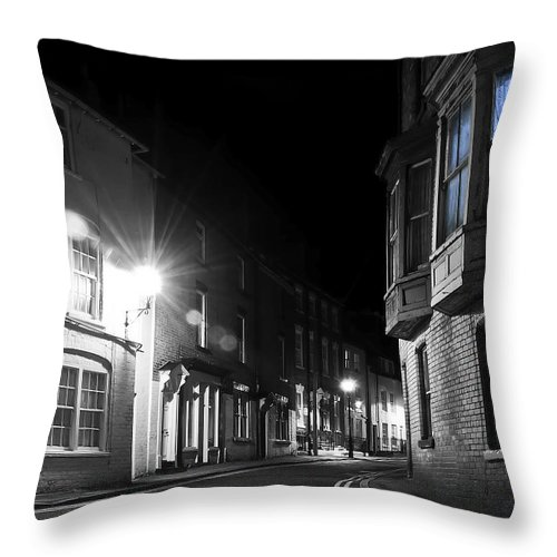 Aqua Throw Pillow featuring the photograph Night Time by Svetlana Sewell