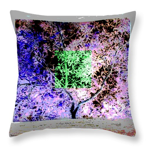 Square Throw Pillow featuring the digital art Night Vision by Eikoni Images