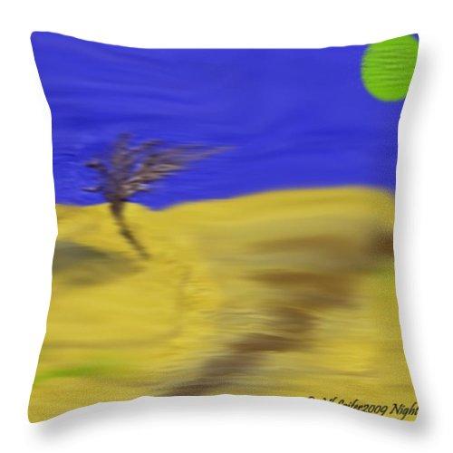 Night Throw Pillow featuring the digital art Night Way by Dr Loifer Vladimir
