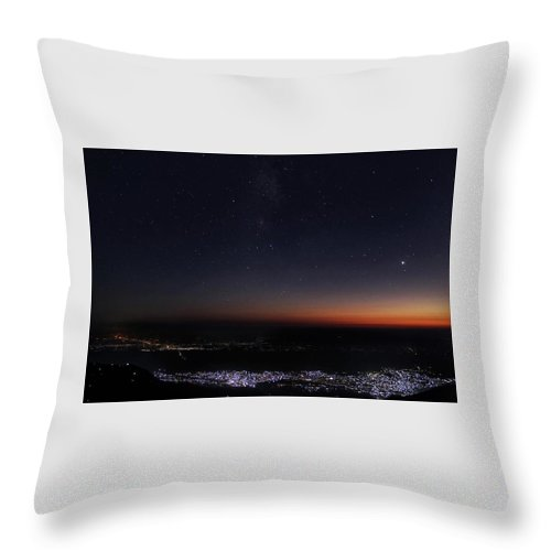 Nightlife Throw Pillow featuring the photograph Nightlife Of Nepal by Ryan Martin
