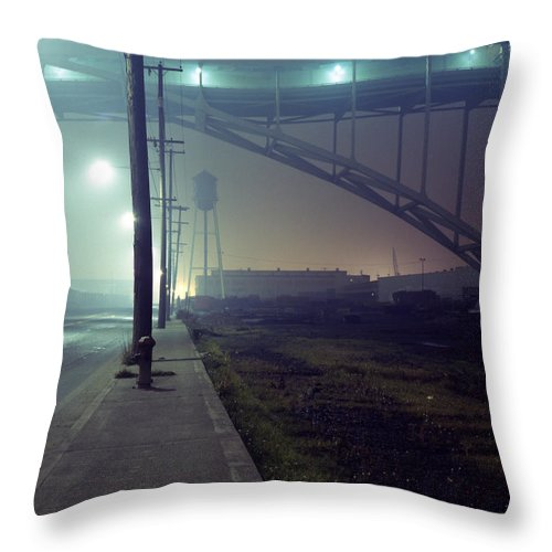 Night Photo Throw Pillow featuring the photograph Nightscape 2 by Lee Santa