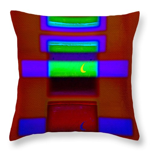 Rothko Throw Pillow featuring the painting Nile Totem by Charles Stuart