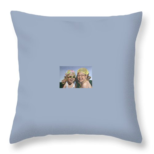 Portrait Throw Pillow featuring the painting Nina And Francis by Rob De Vries