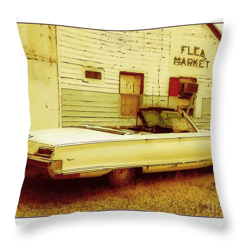 1957 Throw Pillow featuring the digital art Nineteen Fifty-seven Ford Fairlane by Margie Middleton