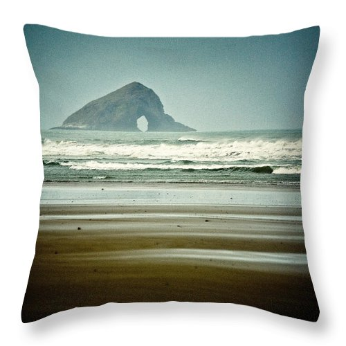 Matapia Island Throw Pillow featuring the photograph Matapia Island by Dave Bowman