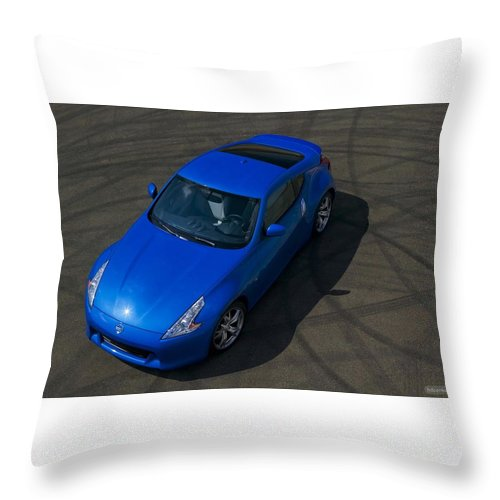 Nissan 370z Coupe 2012 Throw Pillow featuring the digital art Nissan 370z Coupe 2012 by Mery Moon