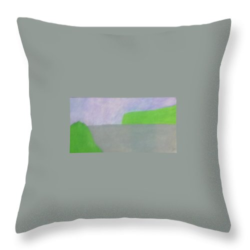 Landscape Throw Pillow featuring the painting No. 432 by Vijayan Kannampilly