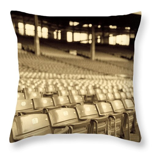 Cleveland Throw Pillow featuring the photograph No Games Left To See by Kenneth Krolikowski