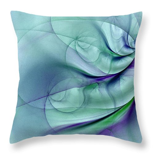 Contemporary Throw Pillow featuring the digital art No More To Roam by NirvanaBlues
