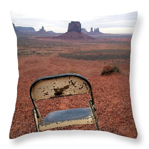 Desert Throw Pillow featuring the photograph No One by Mary Haber