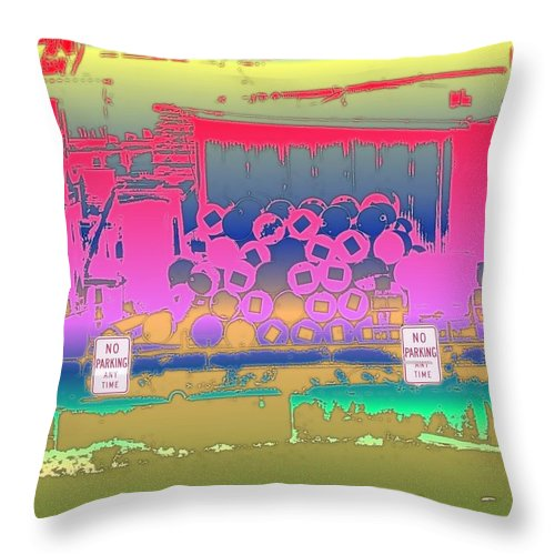 Seattle Throw Pillow featuring the photograph No Parking Anytime by Tim Allen