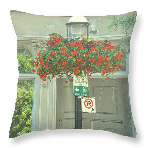 Throw Pillow featuring the photograph No Parking by Ian MacDonald
