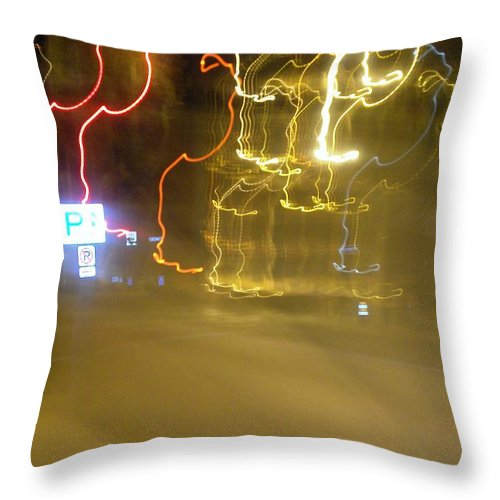 Photograph Throw Pillow featuring the photograph No Parking by Thomas Valentine