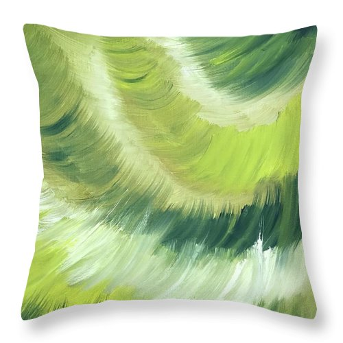 Abstract Throw Pillow featuring the painting No Strings Attached by Sheila Mashaw