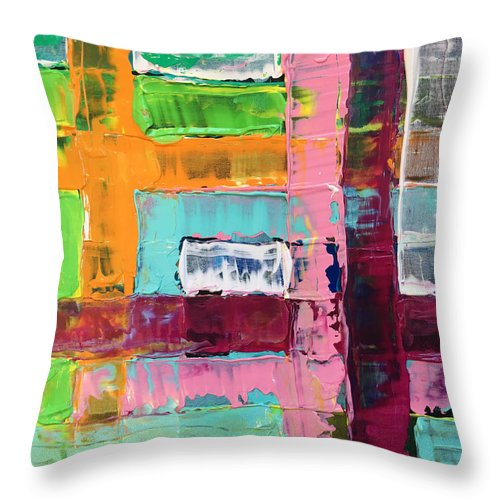 Painting Throw Pillow featuring the painting No Title by Joao Alves