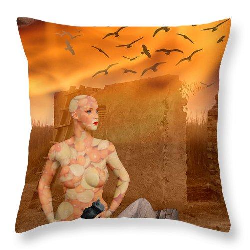 Digital Art Throw Pillow featuring the photograph No Title by Sitara Bruns