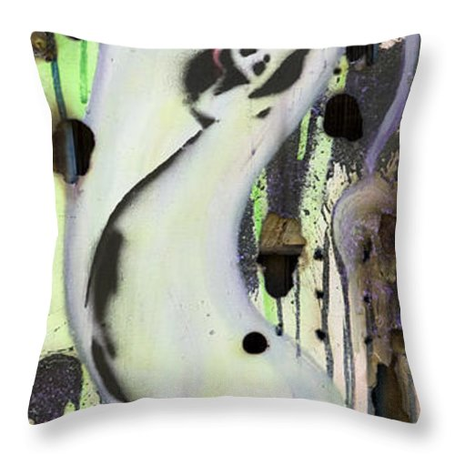 Woman Throw Pillow featuring the painting No Winners In Love by Sheridan Furrer