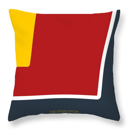 Ford Throw Pillow featuring the digital art No011 My Mad Max Minimal Movie Car Poster by Chungkong Art