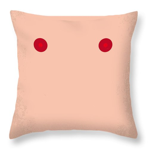 Showgirls Throw Pillow featuring the digital art No076 My Showgirls Minimal Movie Poster by Chungkong Art
