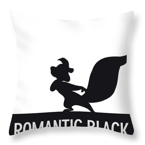 Looney Throw Pillow featuring the digital art No13 My Minimal Color Code poster Pepe Le Pew by Chungkong Art