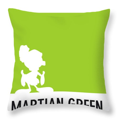 Looney Throw Pillow featuring the digital art No15 My Minimal Color Code poster Marvin by Chungkong Art