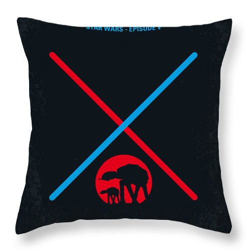 Star Throw Pillow featuring the digital art No155 My STAR WARS Episode V The Empire Strikes Back minimal movie poster by Chungkong Art