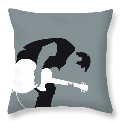 Nine Throw Pillow featuring the digital art No197 My Nine Inch Nails Minimal Music Poster by Chungkong Art