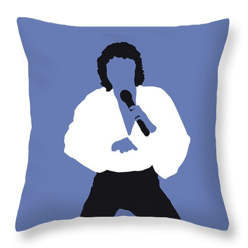 Barry Throw Pillow featuring the digital art No198 My Barry Manilow Minimal Music Poster by Chungkong Art